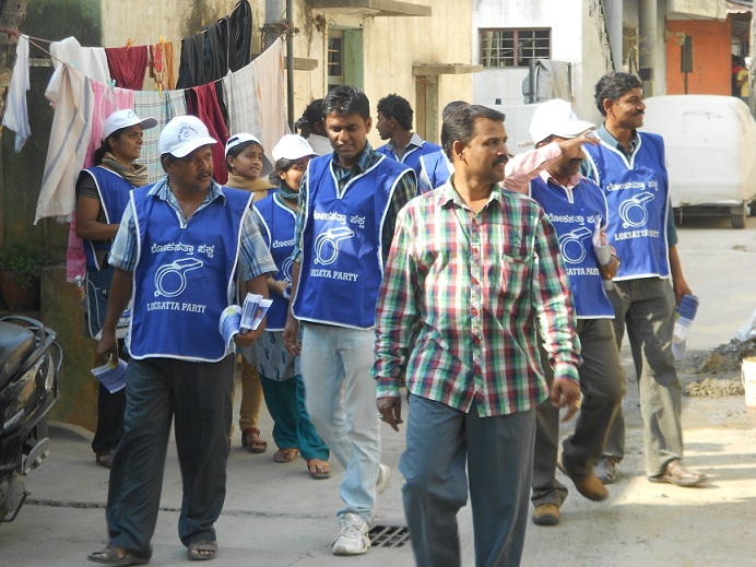 campaigning in Madiwala, for BTM Layout